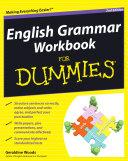 English Grammar Workbook For Dummies Book Cover